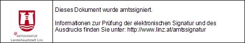 Signaturblock der Landeshauptstadt Linz